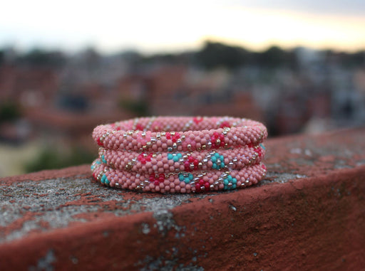 Hippie Peach Roll On Bracelet - nepacrafts