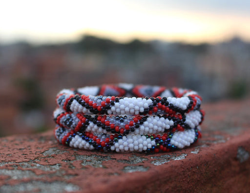 Gypsy Roll On Beads Nepalese  Bracelet - nepacrafts