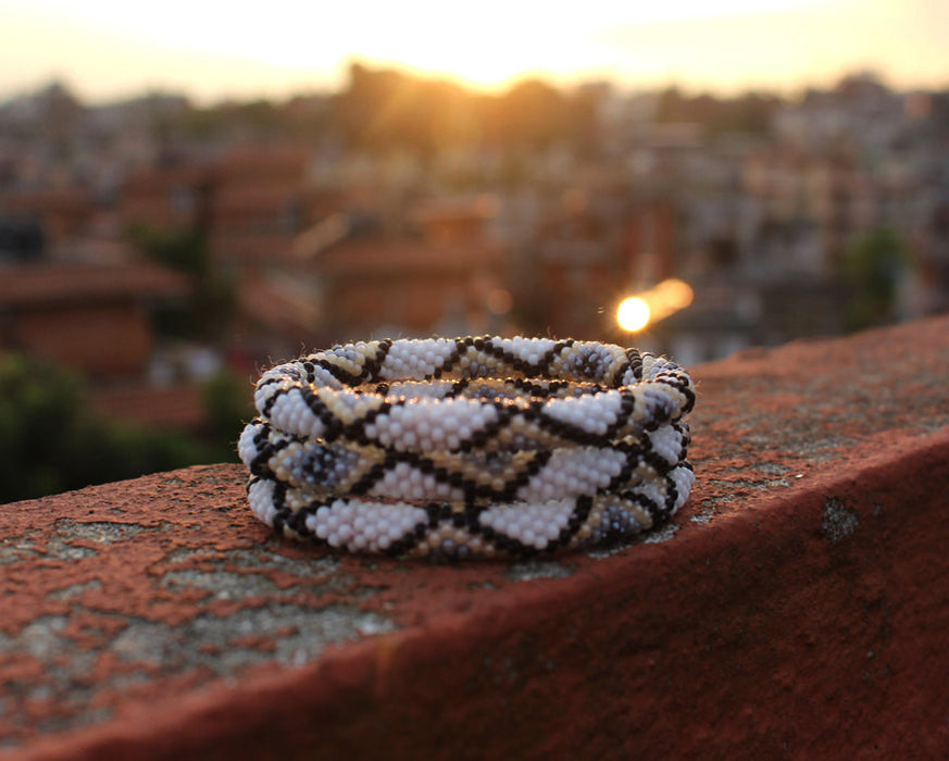 Crocheted Roll On Bracelet - nepacrafts
