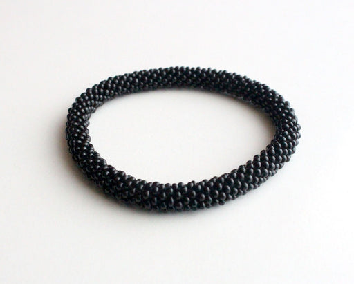Black Roll On Bracelet - nepacrafts