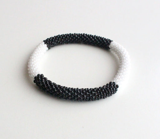 Black & White Roll On Bracelet - nepacrafts
