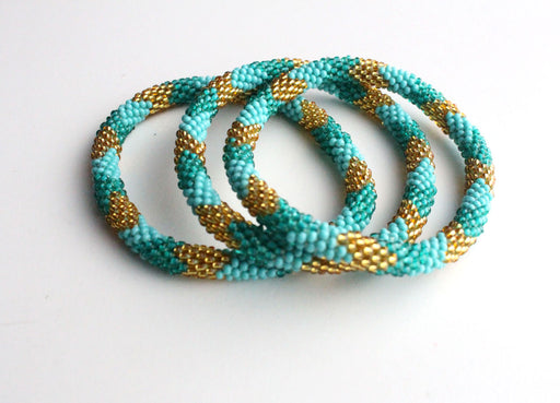 Sea Foam Roll On Bracelet - nepacrafts
