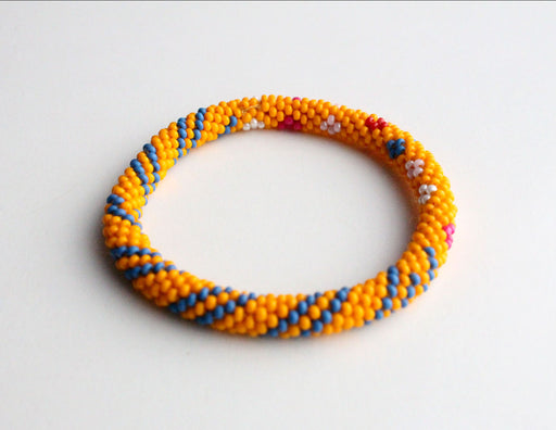 Orange Splash Roll On Bracelet - nepacrafts