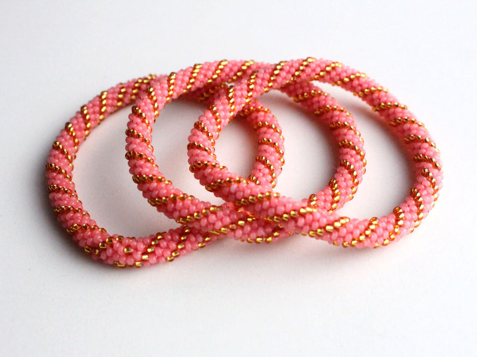 Peach Roll on Bracelet - nepacrafts