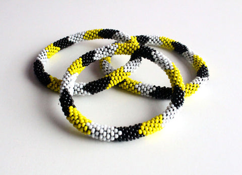 Bright Czech Roll On Bracelet