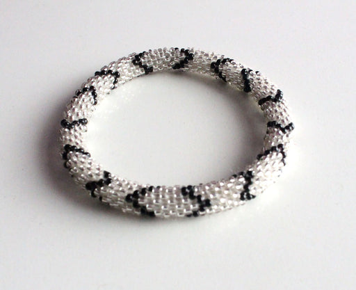 Black Silver Roll On Bracelet - nepacrafts