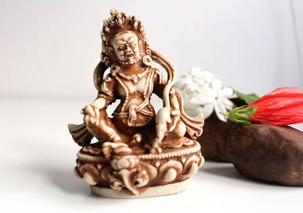 "4"" Resin Statue of God Of Wealth-Zambala Statue - nepacrafts"