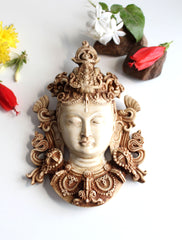 "Beautiful Resin Tara Mask Wall Hanging 8.5"" - nepacrafts - 1"