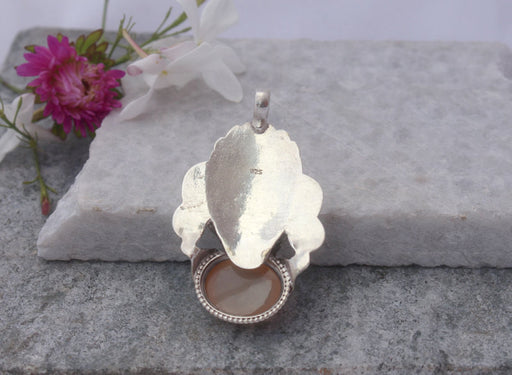 Moonstone Sterling Silver Pendant - nepacrafts
