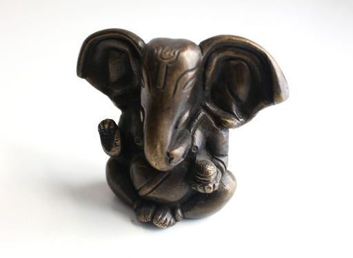 "Blessing Ganesha Big Ears Brass Statue 2.8"" High ST365 - nepacrafts"