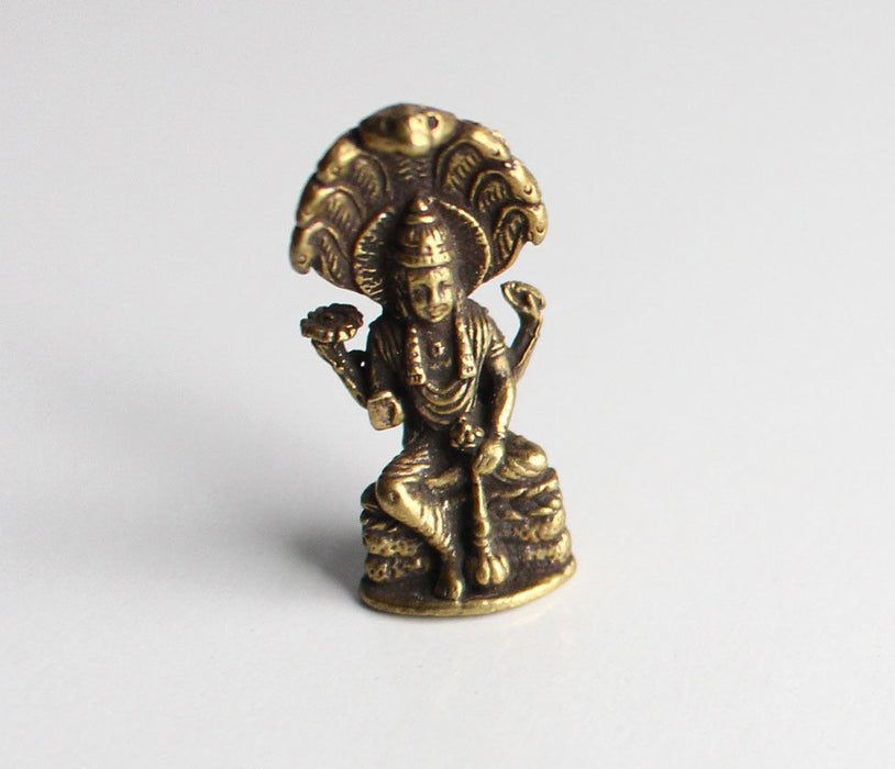 Lord Vishnu Mini Brass Statue - nepacrafts