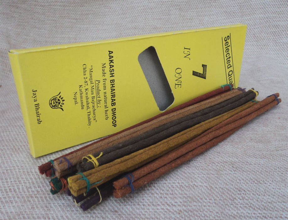 Aakash Bhairab 7 In 1 Incense Sticks - nepacrafts