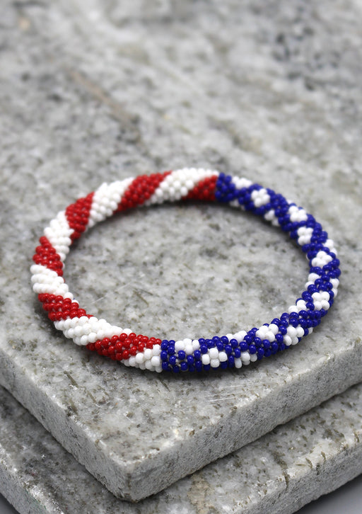 American Flag Roll On Bracelet