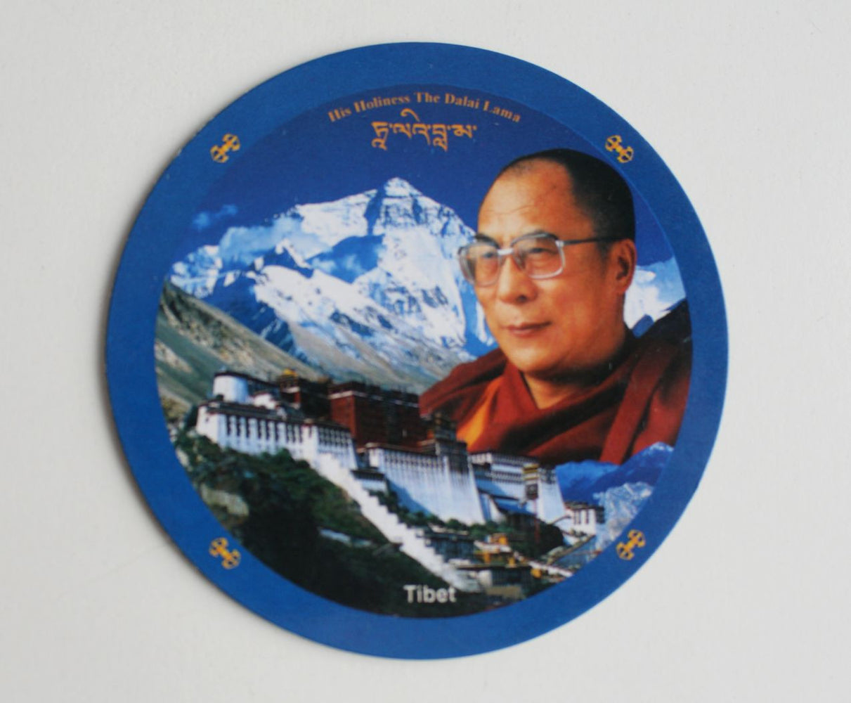 His Holiness The Dalai Lama Tibet Fridge Magnet - nepacrafts