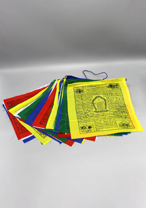 25 Sheets of Tibetan Kalachakra and Mixed Deities Prayer Flag
