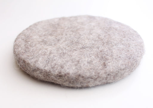 Grey Color Soft and Round Felt Small Cushion/Mat - nepacrafts