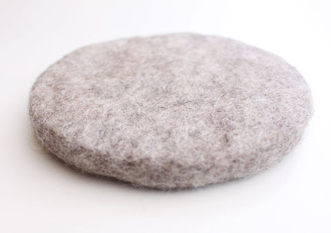 Grey Color Soft and Round Felt Small Cushion/Mat