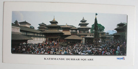The Durbar Square of Kathmandu Panoramic Postcard Nepal