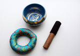 "Buddha Eyes Painted Singing Bowl 3.5"" - NepaCrafts"