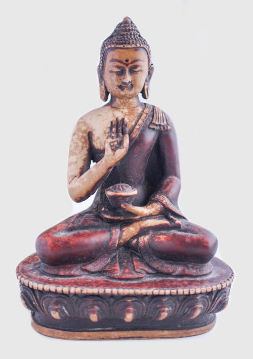Blessing Buddha Resin Statue - nepacrafts