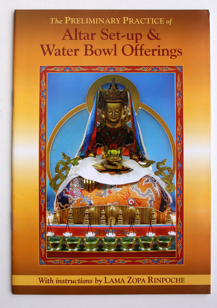 Altar Set-up & Water Bowl offerings by Lama Zora Rinpoche - nepacrafts