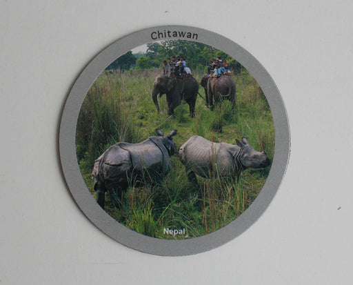 Chitwan National Park Printed Fridge Magnet - nepacrafts