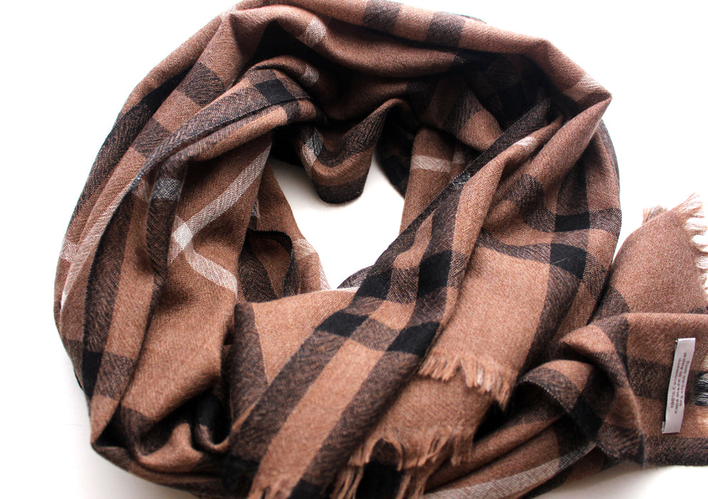 100% Exclusive Tartan Cashmere Stole from Nepal - nepacrafts