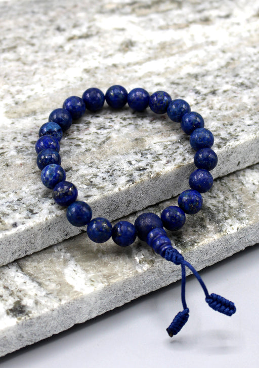 Blue Lapis Beads Stretchable Bracelet - nepacrafts