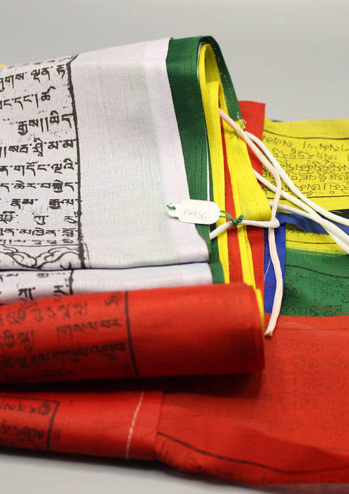 Extra Large Tibetan Deities and Windhorse Vertical Pole Prayer Flags - nepacrafts