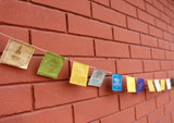 Lokta Paper Auspicious Symbol Mini Prayer Flags - NepaCrafts
