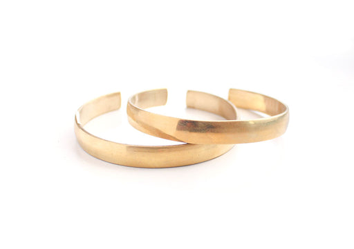 Plain Brass Unisex Healing Bangle - nepacrafts