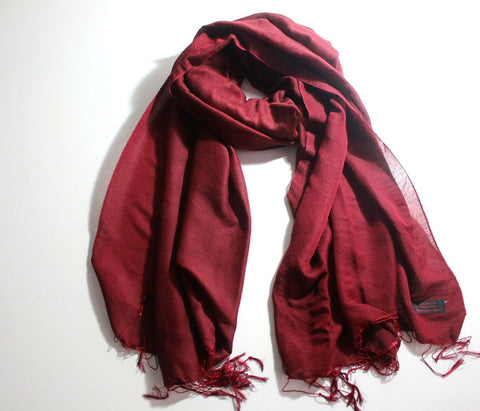 Silky Monk Red Water Pashmina Shawl