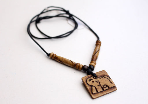 Nepalese Elephant Bone Necklace - nepacrafts