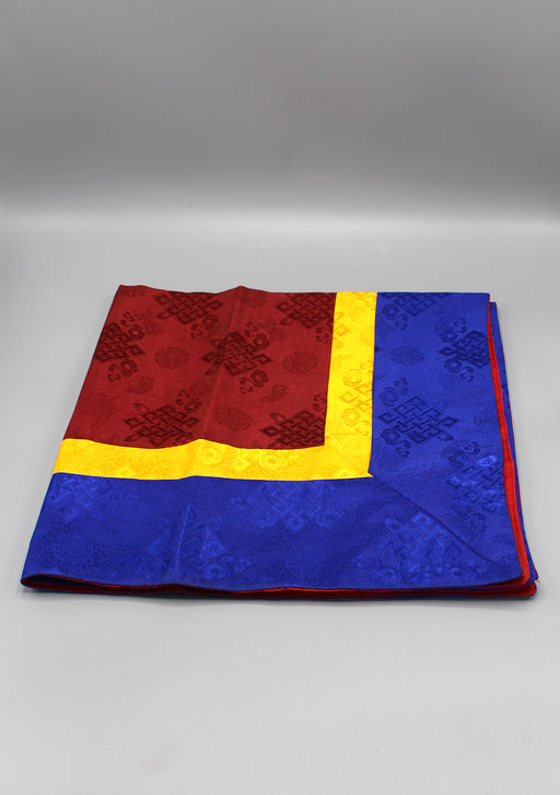 Maroon Silk Brocade Buddhist Altar Cloth - nepacrafts