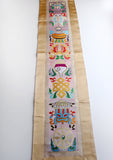 Eight Auspicious Symbol Embroidered Tibetan Wall Hanging Banner