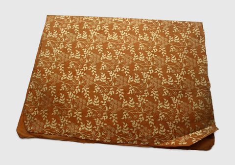 Ecofriendly and Beautiful Golden Flower Printed Dark Orange Lokta Paper Sheets - NepaCrafts