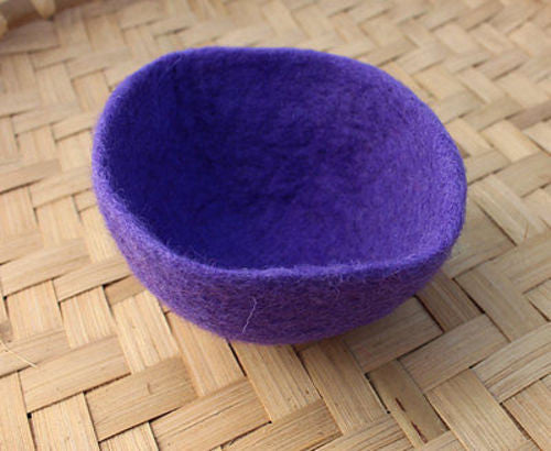 Small Felt Wool Bowls - nepacrafts