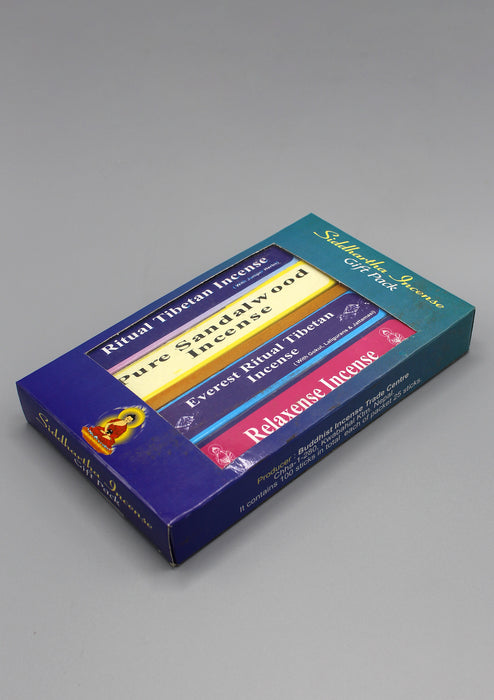Siddhartha Incense Gift Pack-With Sandalwood, Ritual, Everest and Relaxense - nepacrafts