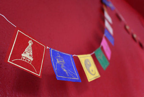 Buddhist Symbols Paper Prayer Flags