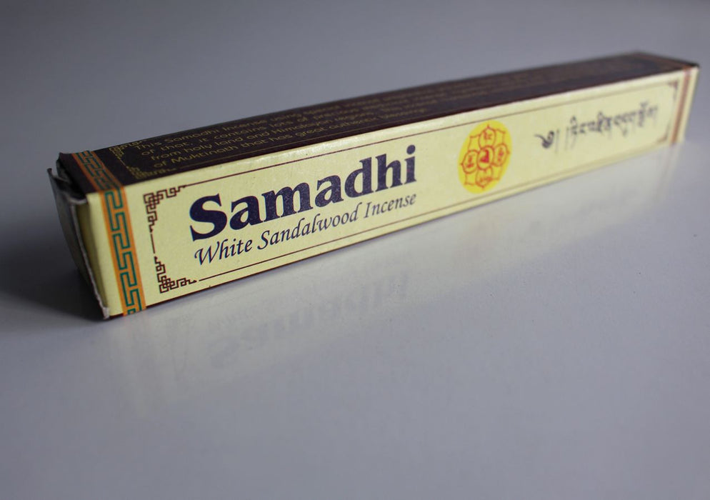 Samadhi White Sandalwood Tibetan Incense - nepacrafts