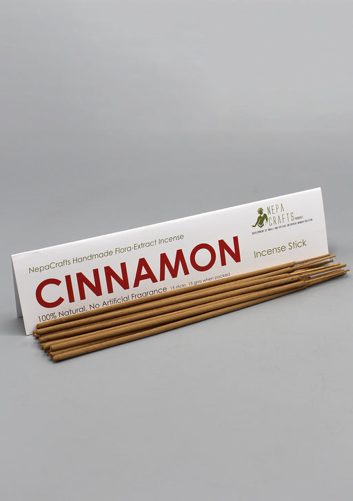 NepaCrafts Handmade Cinnamon Flora Incense Sticks - nepacrafts
