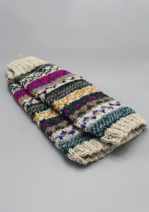 Multicolor Winter Sherpa Legwarmers - nepacrafts
