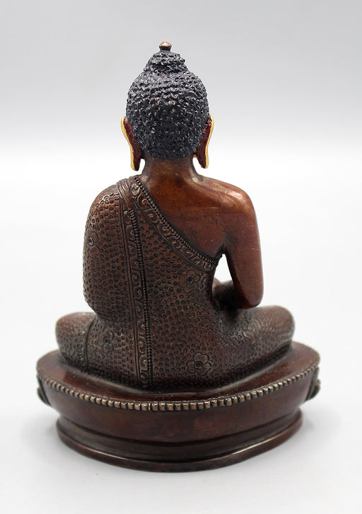 Golden Faced Copper Oxidized Amitabha Buddha Statue