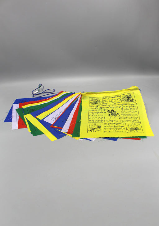 Large Tibetan Windhorse Prayer Flag, 25 Sheets of Tibetan Lungta
