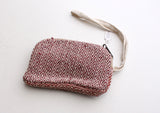 Mini Zigzac Pattern Hemp Money/Cosmetics Zipper Purse - NepaCrafts