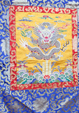 Dragon Silk Brocade Tibetan Wall Hanging with Colorful Fringes - NepaCrafts