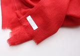 Elegant Monk Red 100% Pashmina Shawl from Nepal - NepaCrafts
