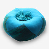 Fair Trade Blue Singing Bowl Cushion-Available in Three Sizes - NepaCrafts