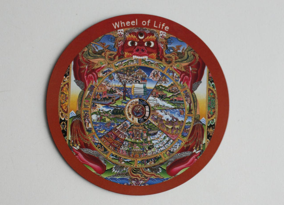 The Wheel of Life Fridge Magnet - nepacrafts