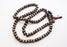 Om Mani Etched Conch Mala, 108 Conch Bead Prayer Mala - nepacrafts